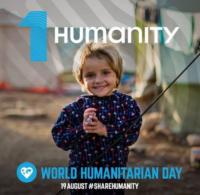 Cute Happy Girl World Humanitarian Day 2020