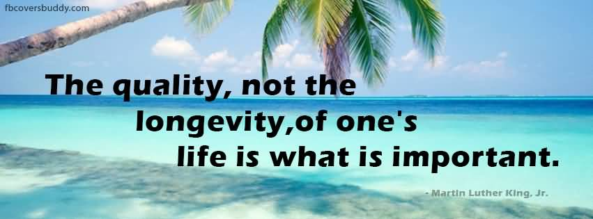 Achievement Qoute By Martin Luther King About Quality Longevity Life Is Important