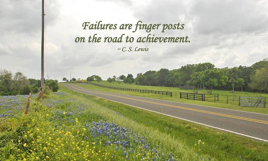 Achievement Quote Pictures For Facebook Failure Are Fingers Posts On The Road To Achievement