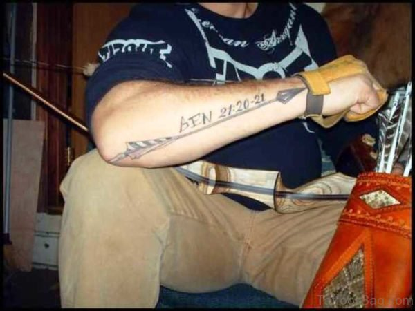 Best Ever Memorable Arrow Tattoo On Arm