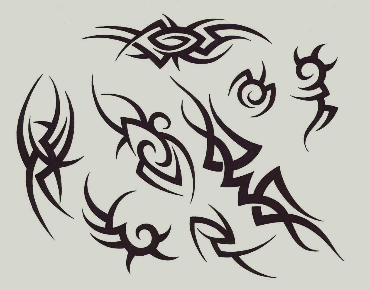 Black Tribal Tattoo Designs