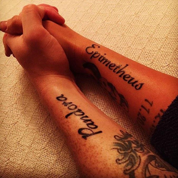 Epimetheus Funny Sentimental Tattoo For Couples