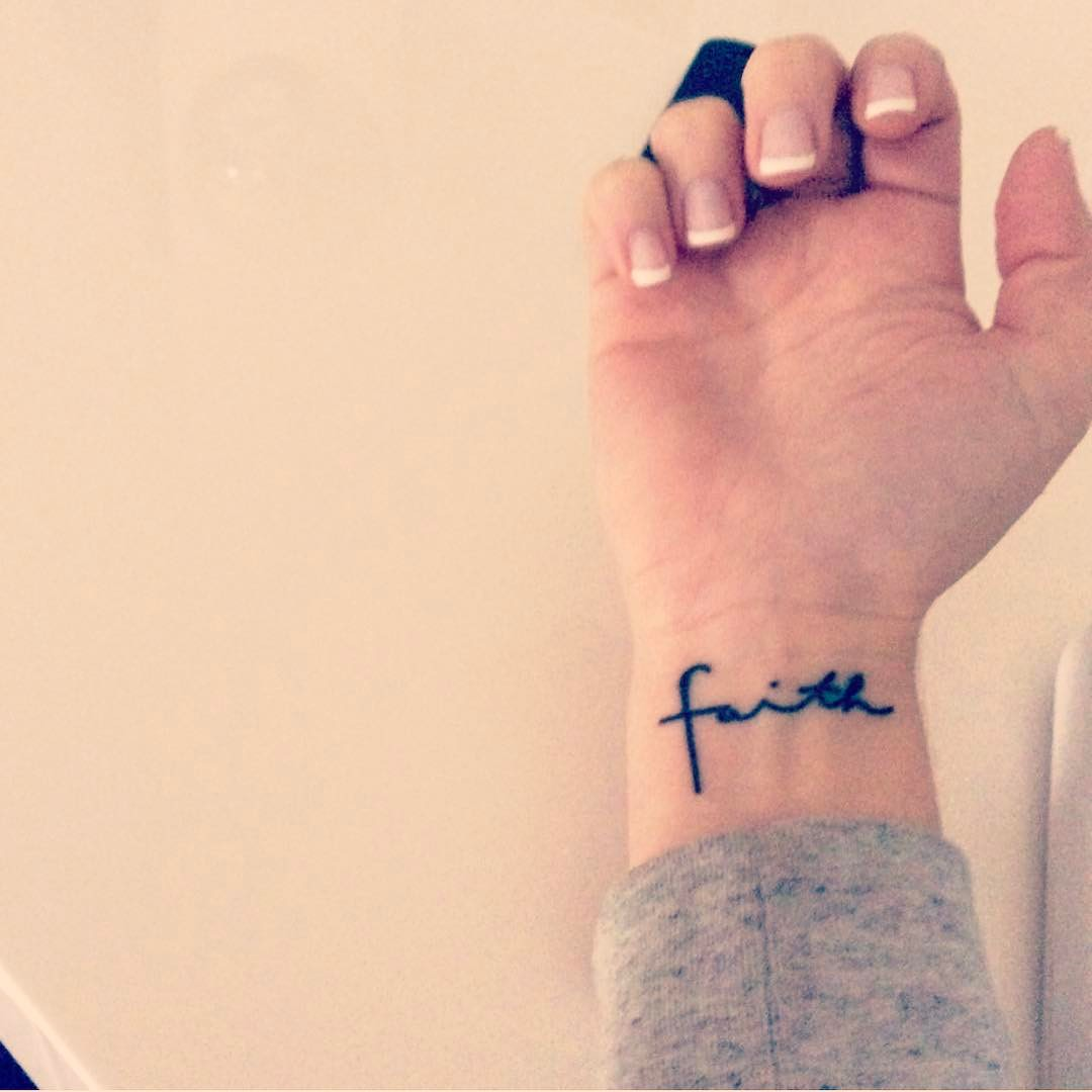 Faith Classy Wrist Tattoos Right Hand