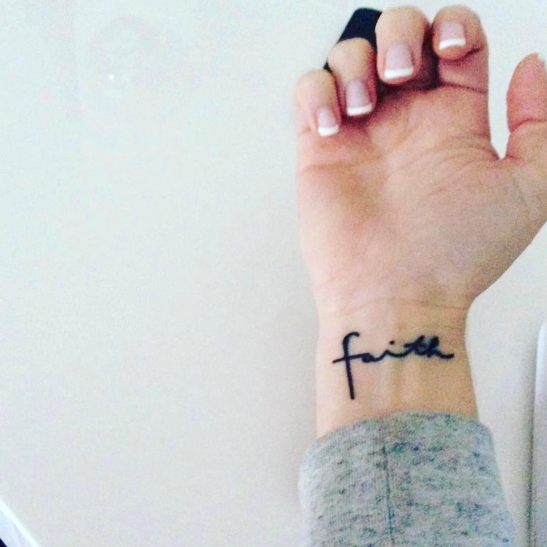 Faith Feminine Classy Wrist Tattoo