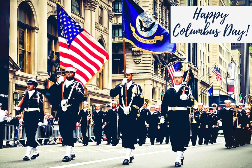 Happy Columbus Day Road Show In America