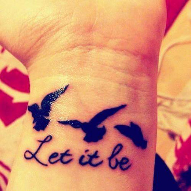 Let It Classy Wrist Tattoos Design