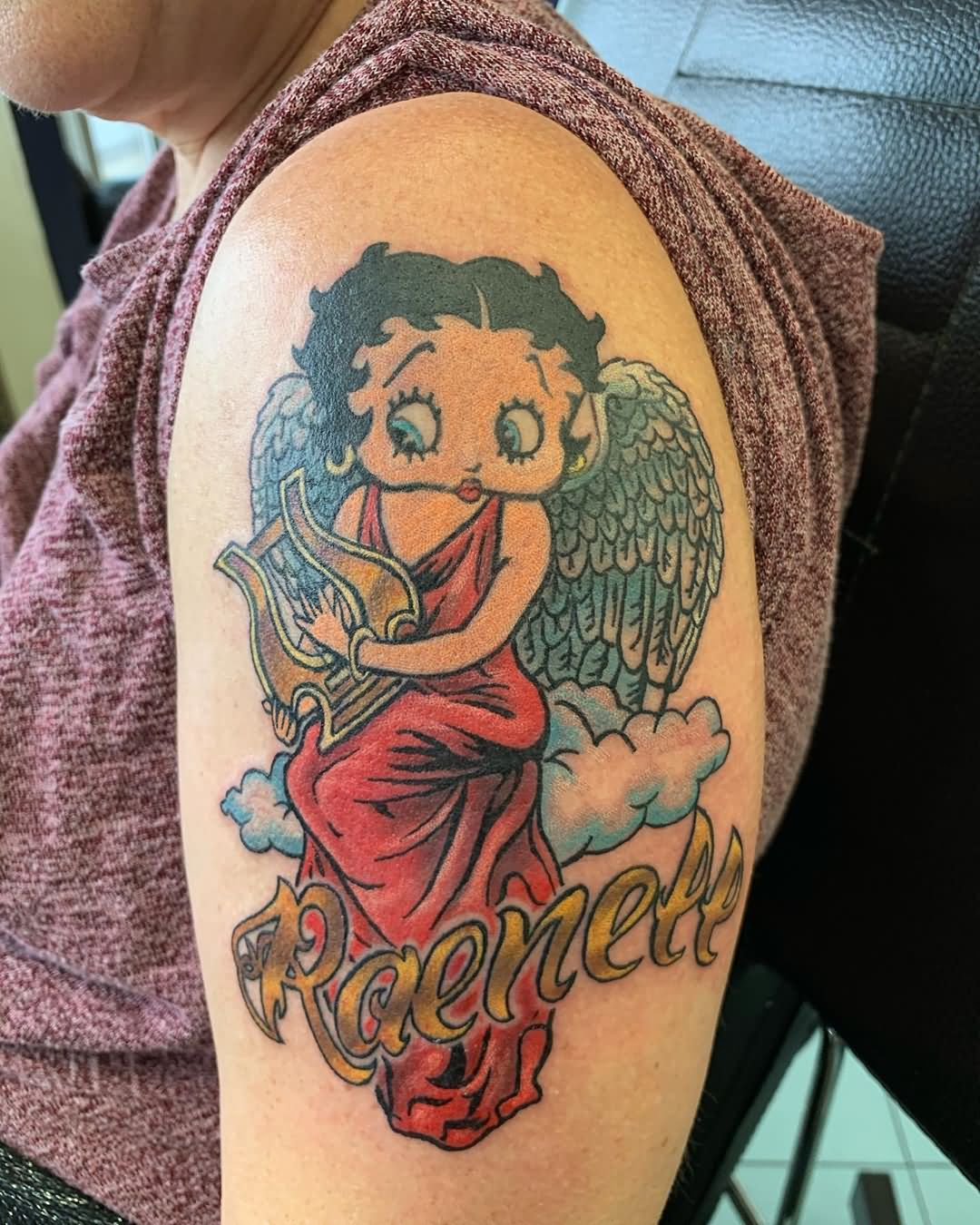 Name With Betty Boop Tattoo On Arm