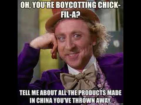 Oh You're Boycotting Chicks China Boycott Meme
