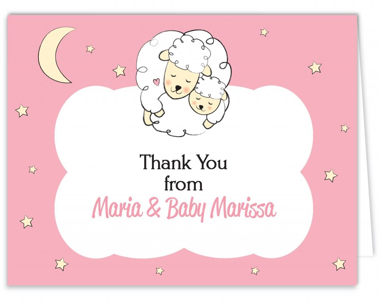 Short Baby Quotes Thank You From Maria & Baby Marissa