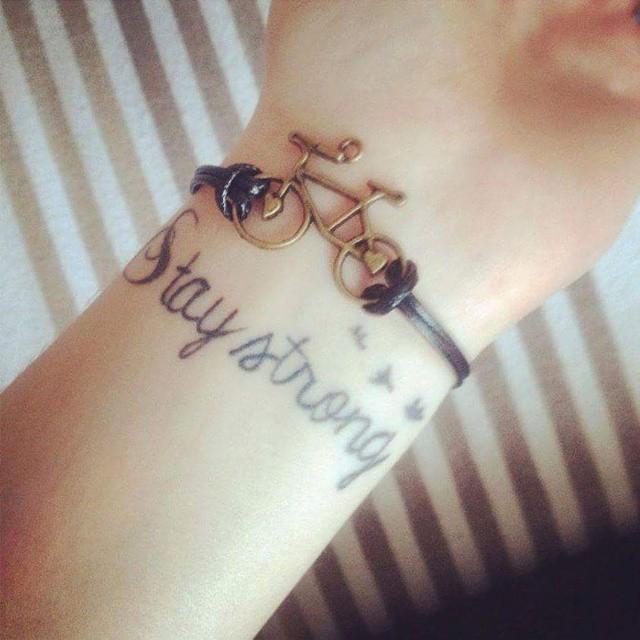 Stay Strong Classy Wrist Tattoos Black Ink Tattoo