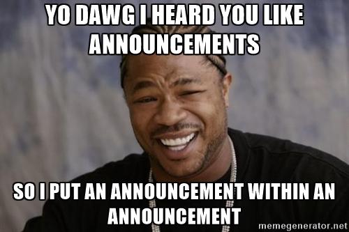 Yo Dawg I Heard You Like Announcements China Boycott Meme