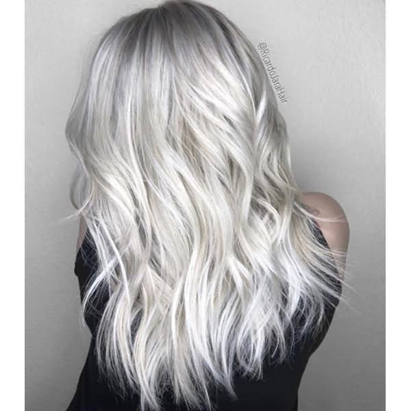 2020 Blonde Hair Trends Icy Blonde Hair