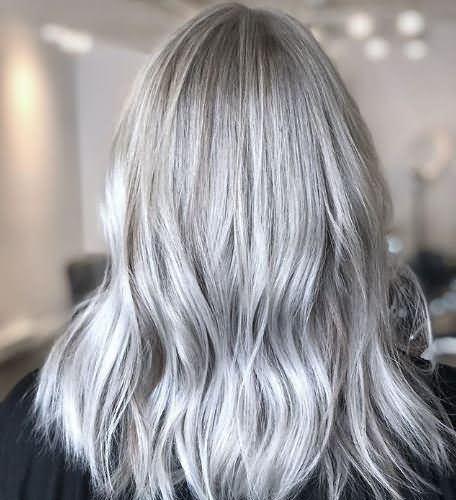 Awesome Medium Length Trendy Icy Blonde Hair 2020