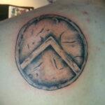 25 Simple Spartan Shield Tattoos Design Ideas