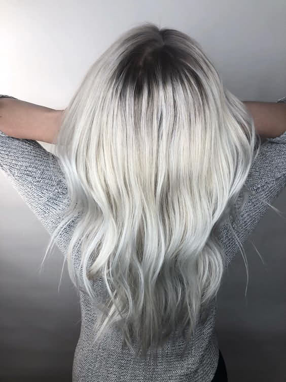 Black Shade Gray Icy Blonde Hair Color