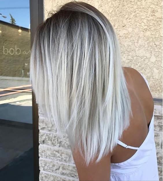 Cool Icy Blonde Hair Balayage
