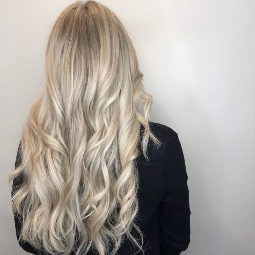 Curly Gray Light Brown Blonde Hair Color Idea