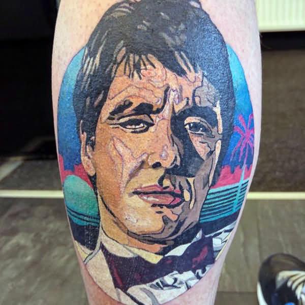 Gentlemen Scarface Tattoo Design Idea On Hand