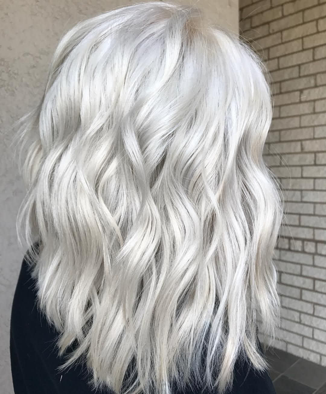 Icy Blonde Hair Color For Short Hair