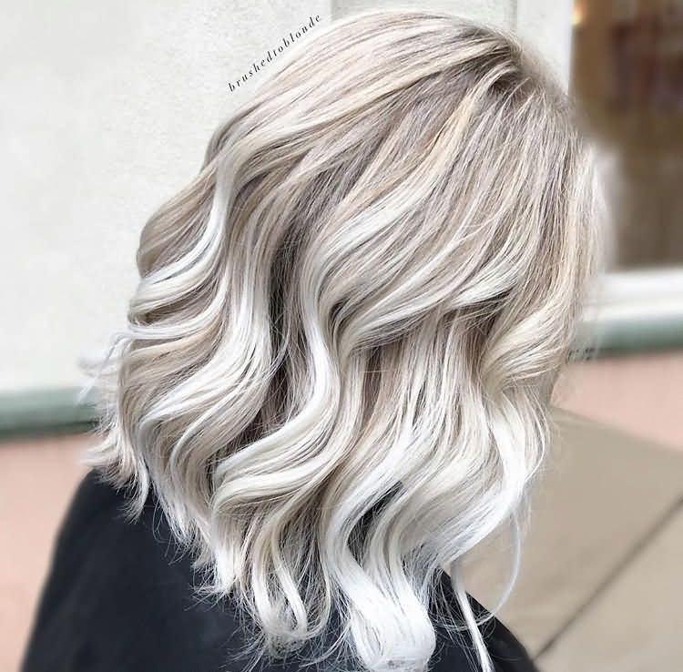 Medium Length Icy Blonde Hair For Ladies