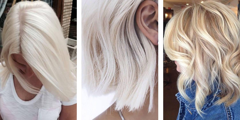 White Short And Medium Light Blonde Hair Dye Idea