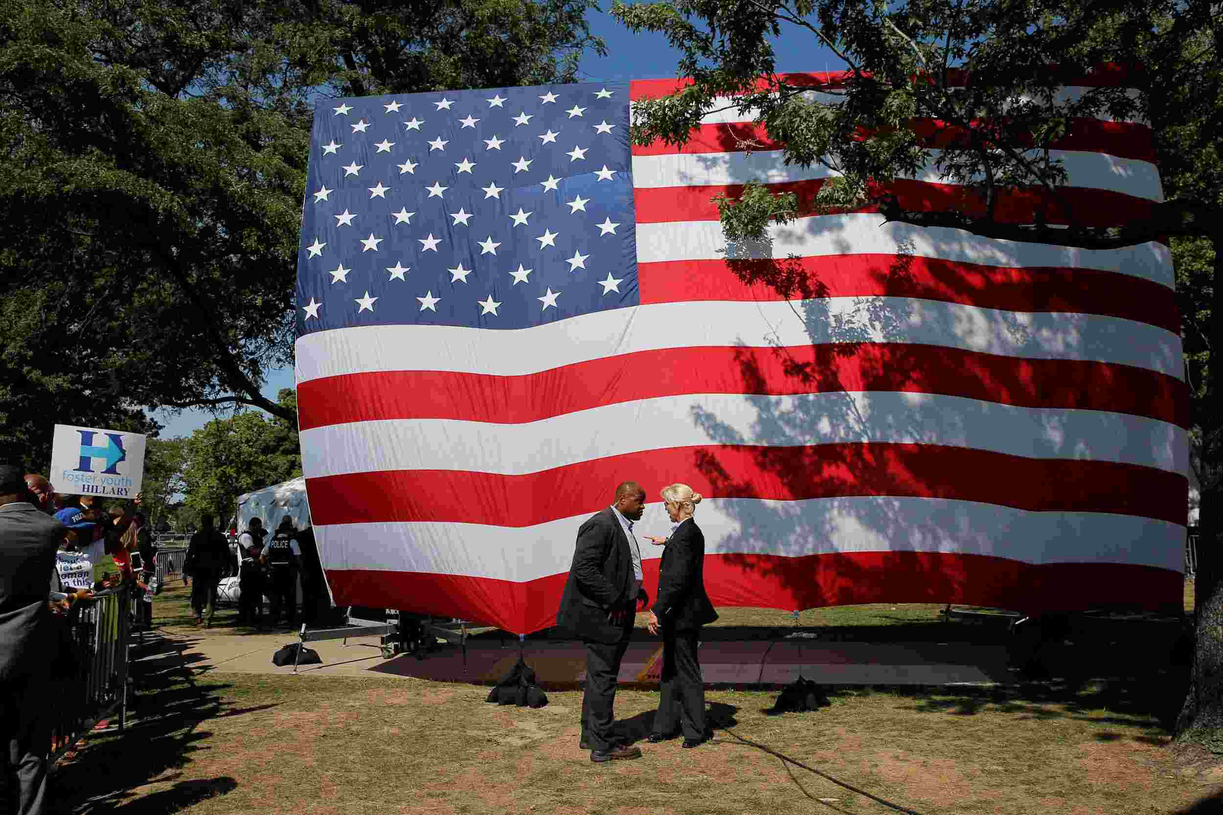 Flag On Usa Labor Day 2020