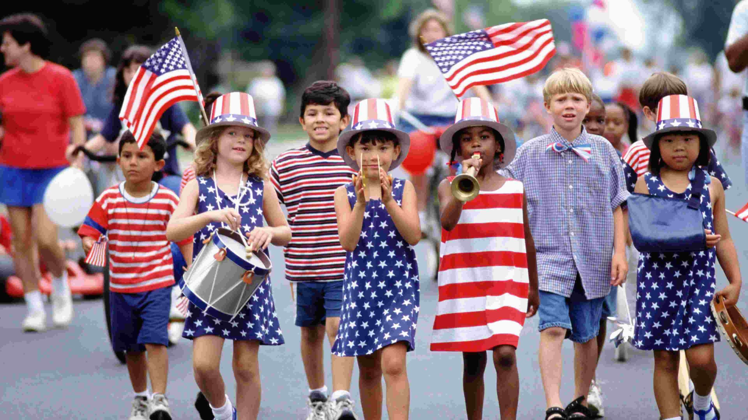 Kids Celebrating Usa Labor Day 2020 Holiday