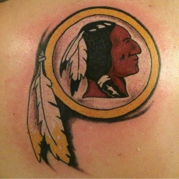 Simple Washington Redskins Tattoo Design