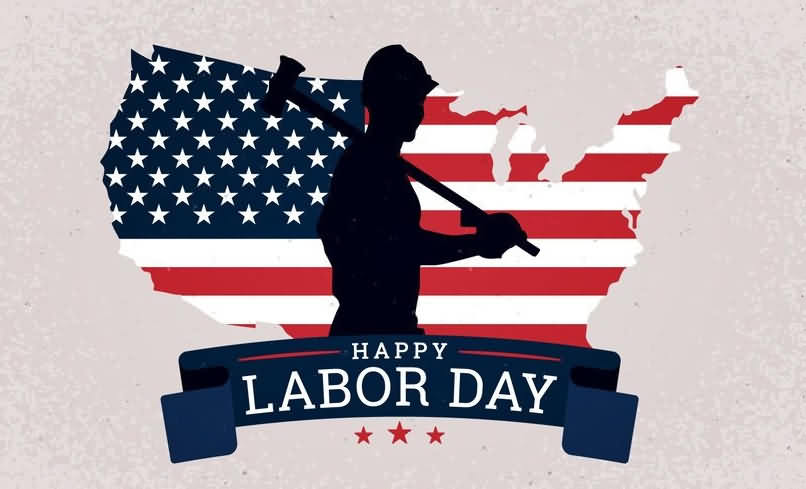 Us Happy Labor Day 2020 With Map