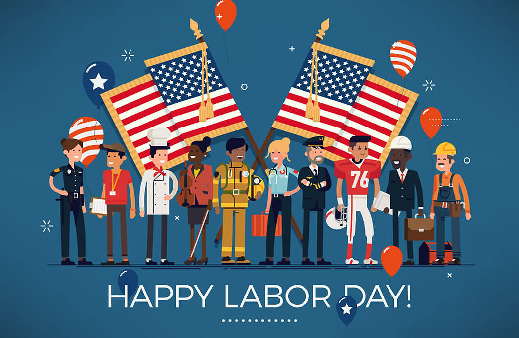 Vector Design For Happy Labor Day 2020 Image