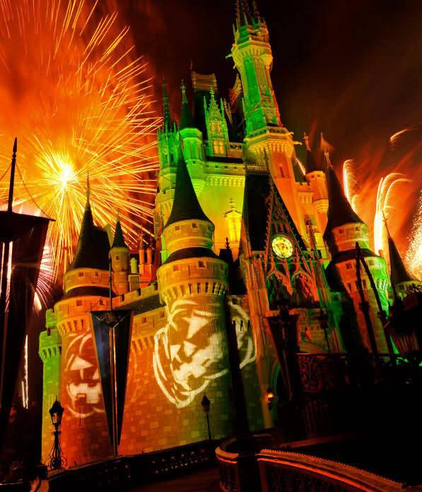 A Big Fireworks On Halloween 2020