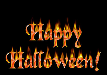 A Fire With Happy Halloween 2020
