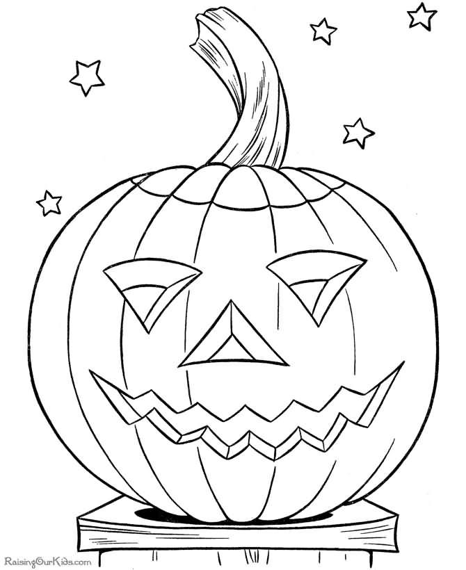 Do Colour On This Halloween Pumkin 2020