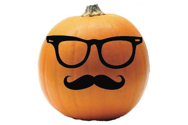 Funny Mustache On Pumkin Halloween Day 2020