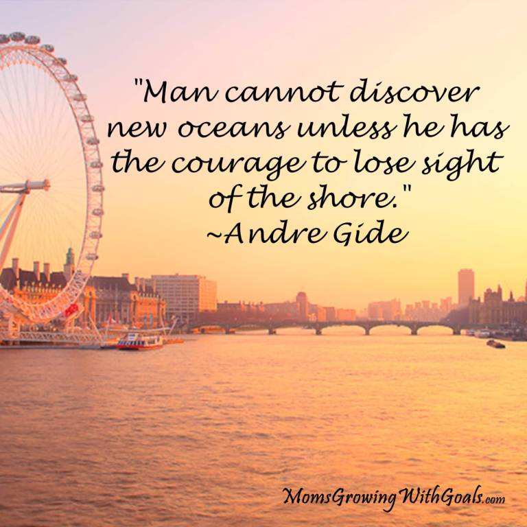 Inspirational And Motivational Quote For Man Cannot Discover New Oceans Unless He Has The Courage To Lose Sight.