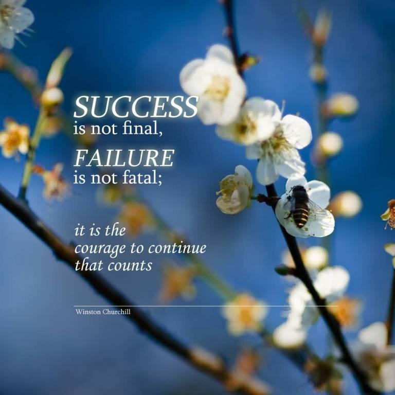 Inspirational Success Quote Churchill
