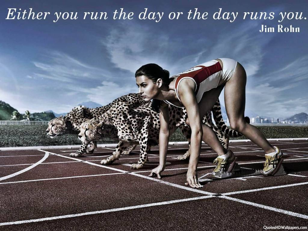 Jim Rohn Inspirational And Motivational Quotes About Running With Tiger