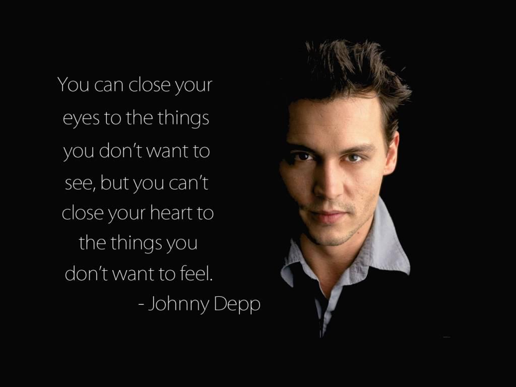 Johnny Depp Inspirational Quote
