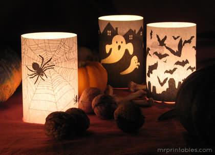 Light Lamp On Halloween