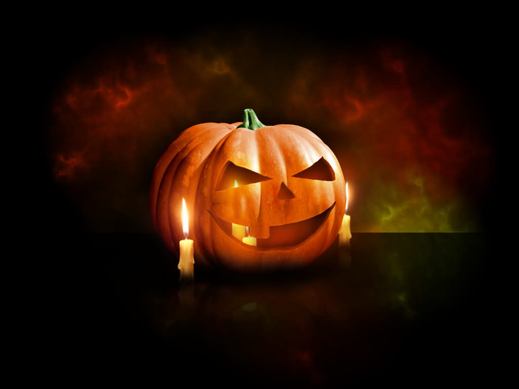 Set The Fire On Candle Halloween Day 2020