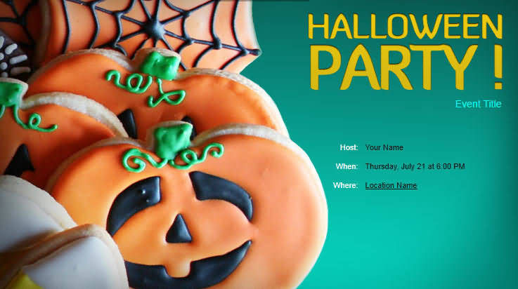 The Party Invition On Halloween