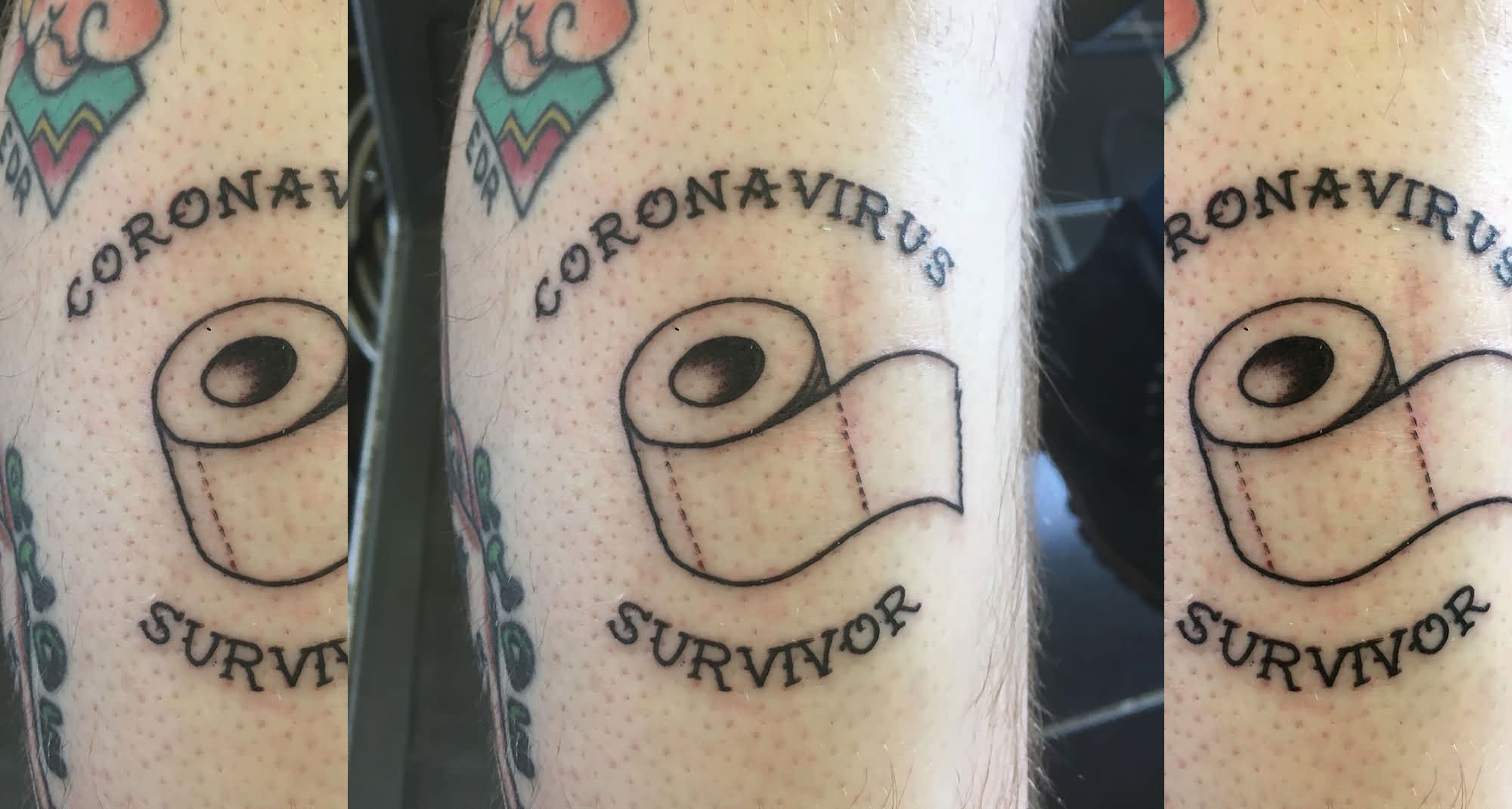 Coronavirus Tattoo For Survivor