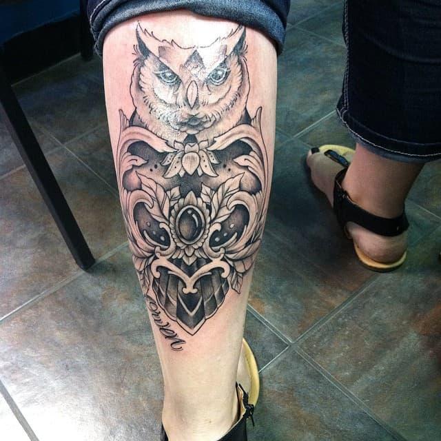 Awesome Calf Tattoo Design 2021
