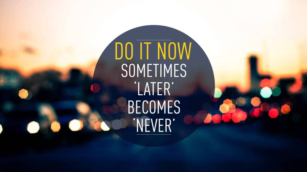 Beautiuful Motivational Quotes For Do It Now Sometimes Later Becomes Never