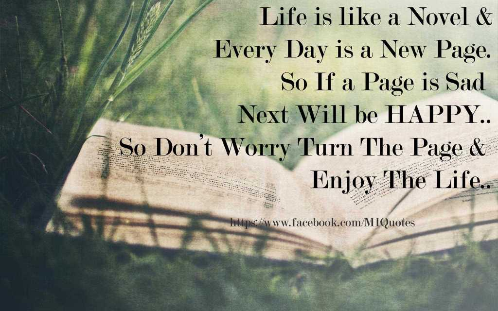 Life Is Like A Novel Inspirational Life Quotes