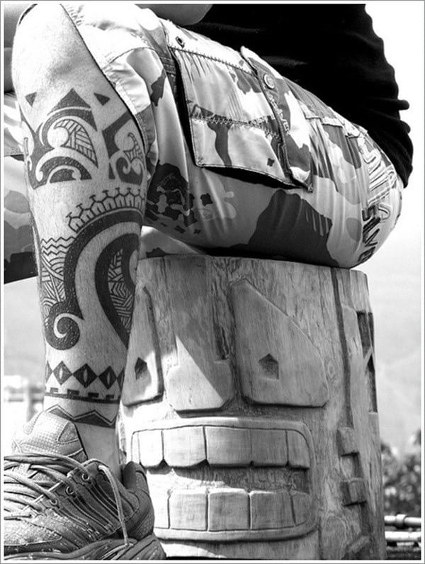 Maori Calf Tattoo Design Idea