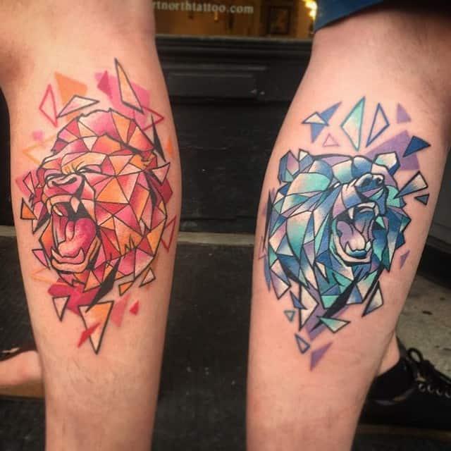 Matching Calf Tattoo Idea