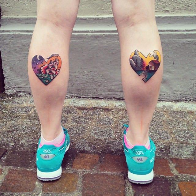 Matching Color Calf Tattoo 2021