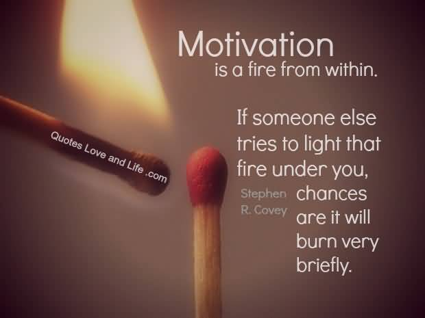 Motivation Quotes Is A Fire From Within, If Someone Else Tries To Light That Fire Under You.