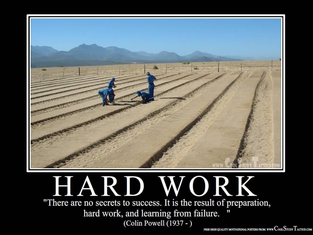 Motivational Hardwork With No Secrets To Success.